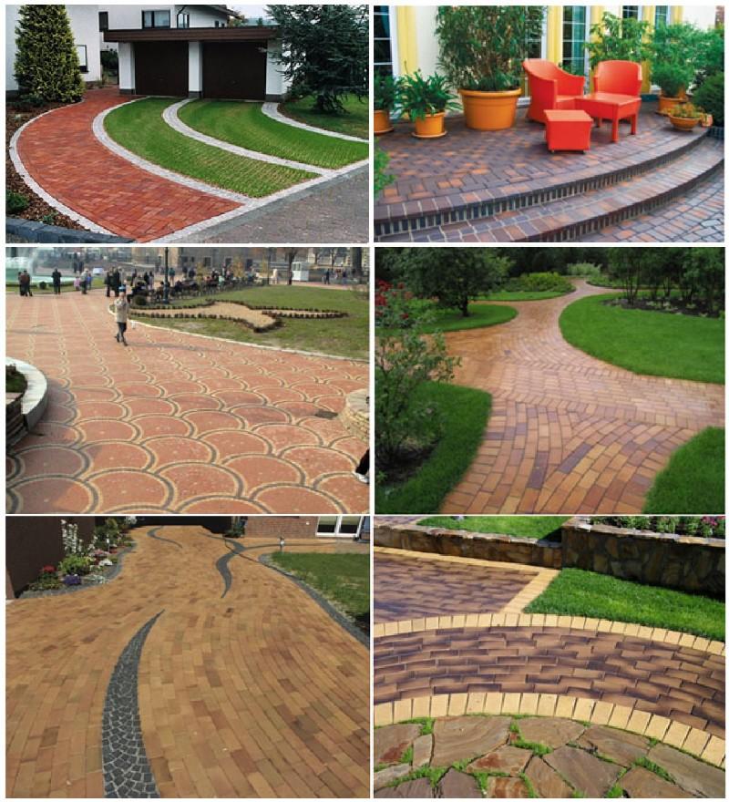 Фото 6. Примеры применения тротуарного клинкерного кирпича (плитки)