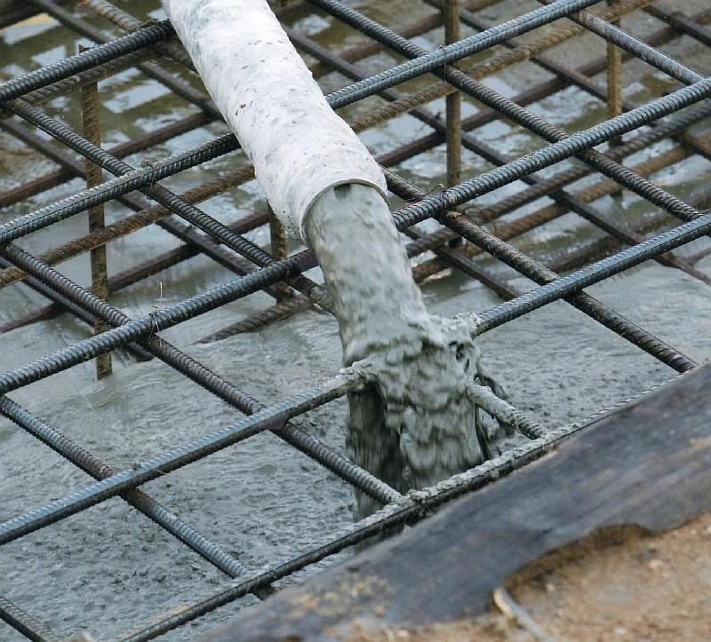 Фото 2. Толщина защитного слоя бетона