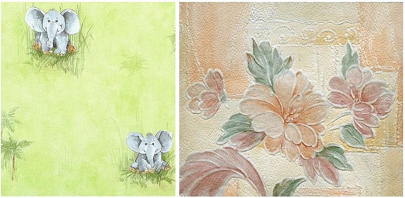 Фото 2. Бумажные обои: симплекс (слева) и дуплекс (справа)