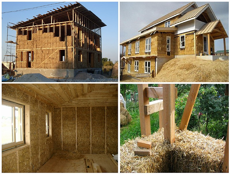 Каркасный дом со стенами из соломенных блоков
