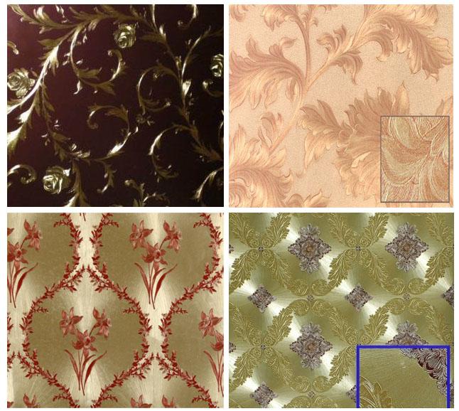Фото 4. Пример шелкографических виниловых обоев
