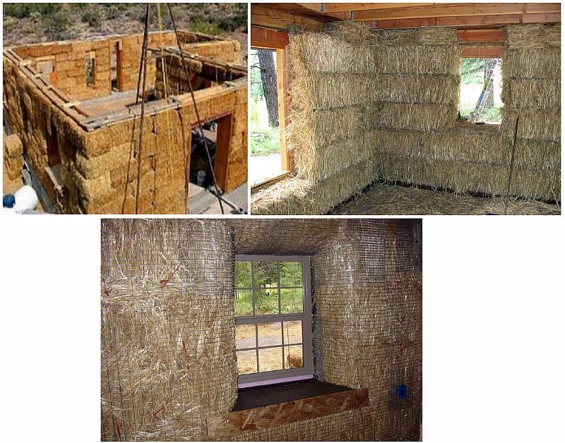 Строительство бескаркасного соломенного дома