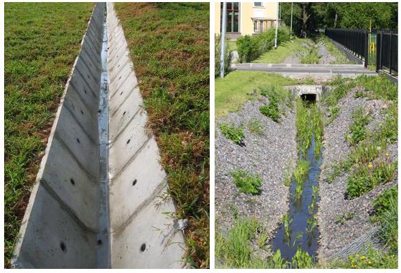 Дренаж открытого типа для понижения уровня грунтовых вод