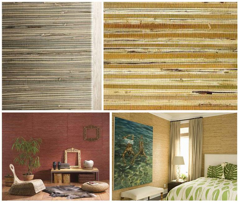 Фото 8. Пример текстильных джутовых обоев