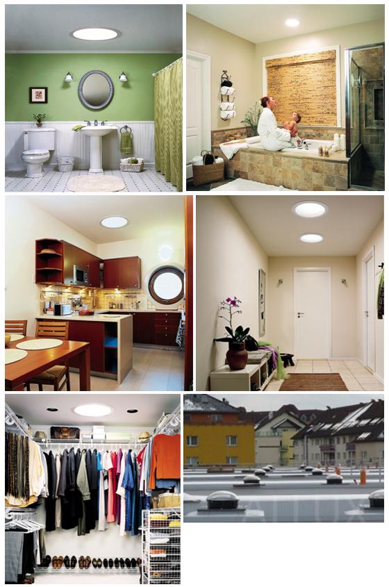 Примеры использования световых туннелей