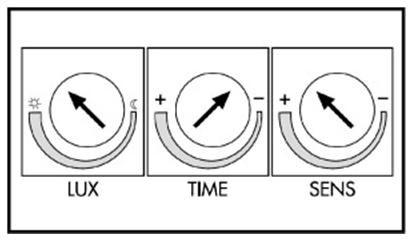 Панель регулирования работы датчика движения