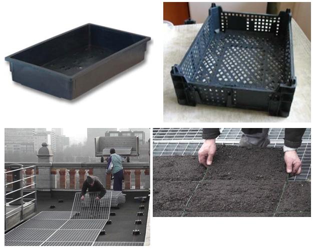 Пластиковые ящики для почвы и установка ящиков на поддоны