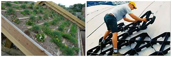 Поперечные фиксаторы, предотвращающие сползание почвы и растительности