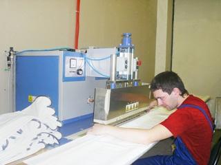 Соединение двух полотен с помощью сварки
