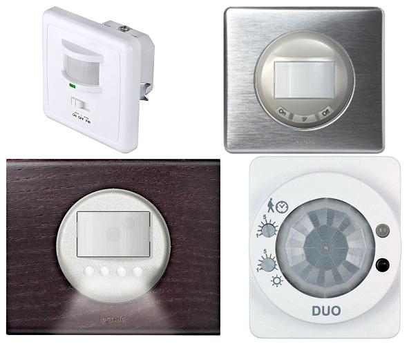 Выключатели светильников с датчиками движения с панелью управления