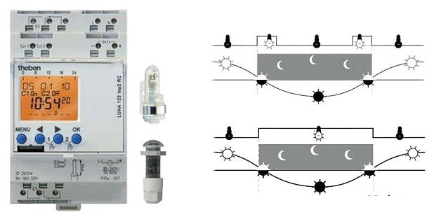 Система регулировки датчика движения с установленным таймером задержки
