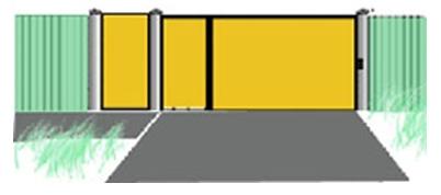 Раздвижные ворота с неодинаковыми по размеру створками