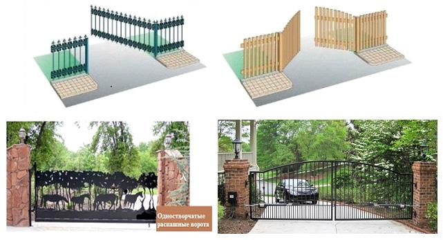 Примеры распашных ворот