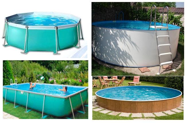 Примеры каркасных сборно-разборных бассейнов