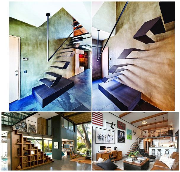 Лестницы, как элемент помещения в стиле лофт