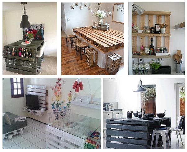 Изготовление кухонной мебели из европаллет (для дачи идеальное решение)