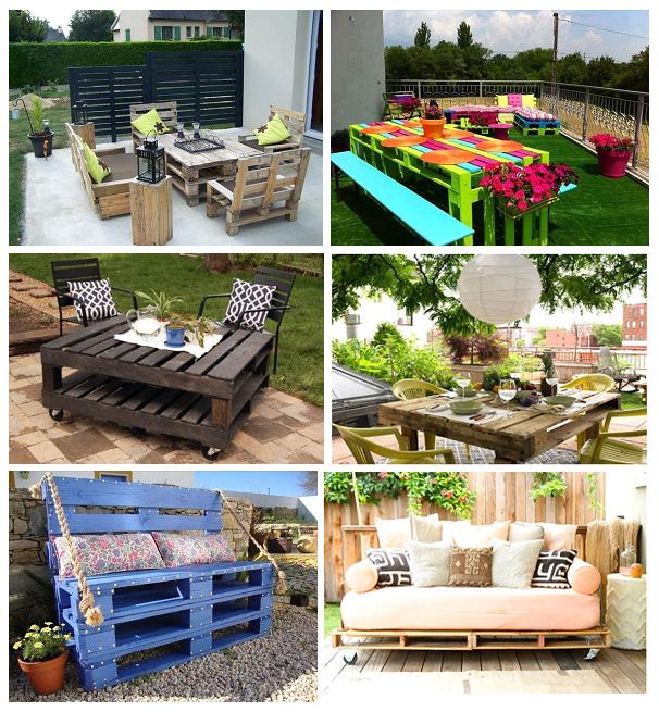 Мебель для сада из европаллет