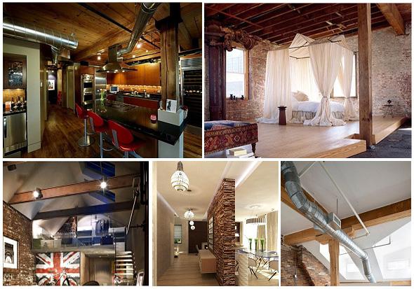 Потолок в стиле лофт (loft)