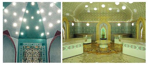Потолок в турецкой бане хаммам