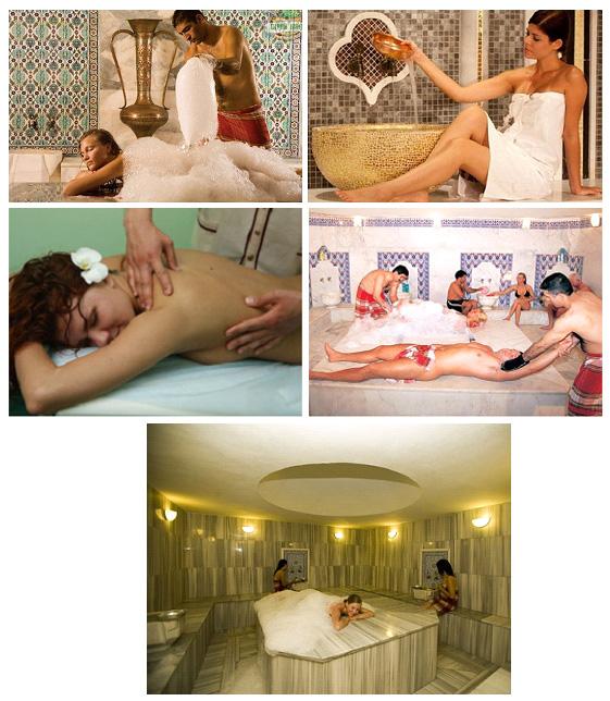 Массаж в турецкой бане хаммам