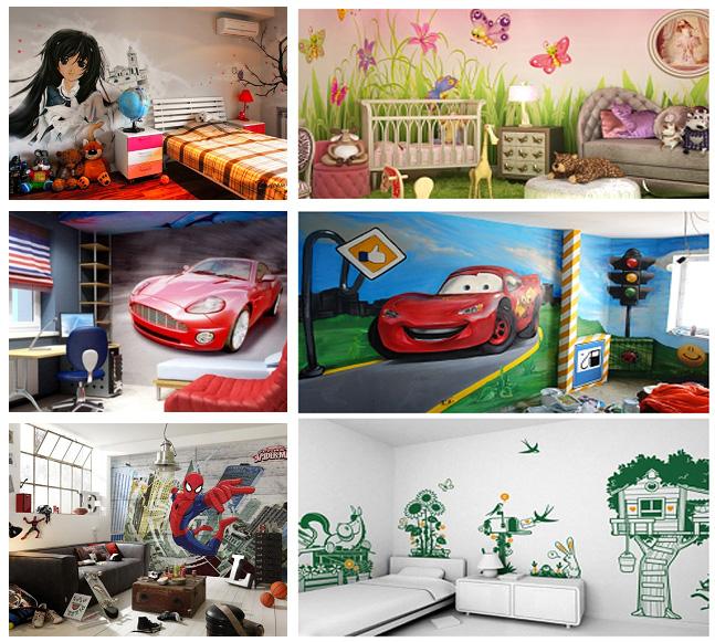Оформление стен детской и подростковой комнаты с помощью граффити