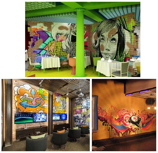 Граффити в кафе и ресторанах