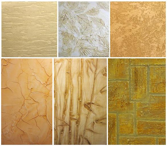 Создание поверхности имитирующие различные материалы с помощью фактурной штукатурки