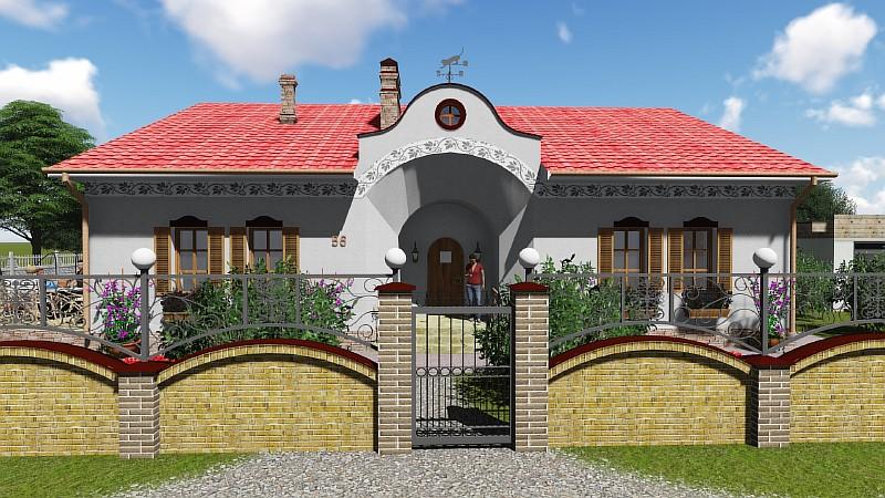 """Проект одноэтажного загородного дома в деревенском стиле """"Иван да Марья"""""""""""