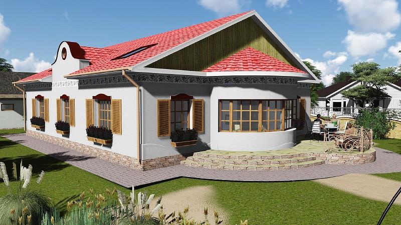 """Жилой дом в деревенском стиле """"Иван да Марья"""" - визуализация"""