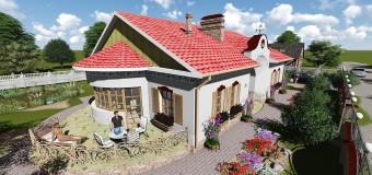 Одноэтажный загородный дом в деревенском стиле — «Иван да Марья»
