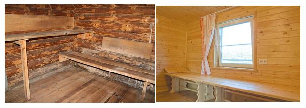 Русская баня из дерева. Интерьеры бани