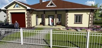 Проект одноэтажного жилого дома — «Восточный-2»