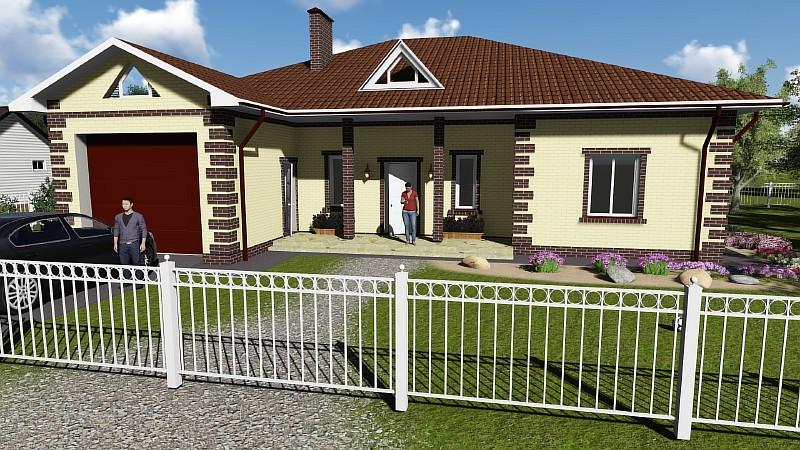 """Проект загородного дома """"Восточный-2"""" - визуализация"""