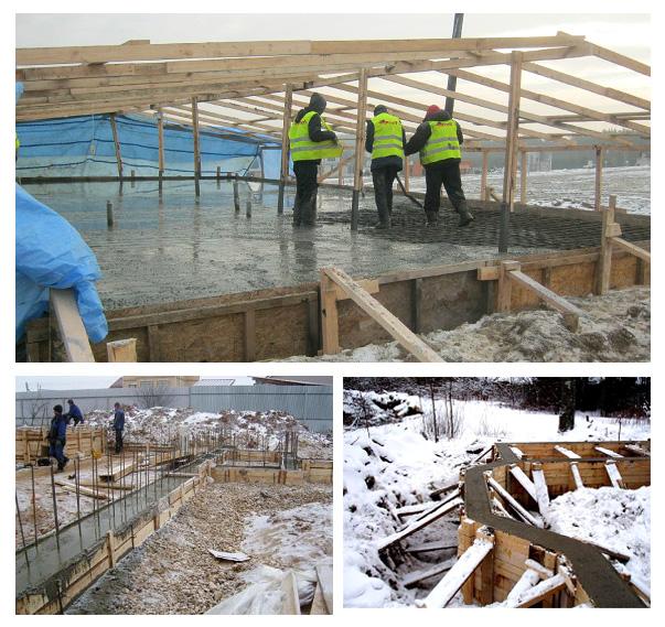 Зимнее бетонирования фундамента