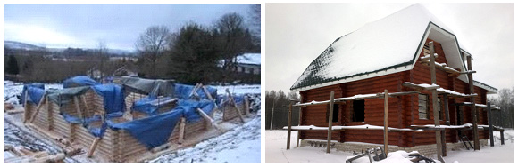 Консервация деревянного дома