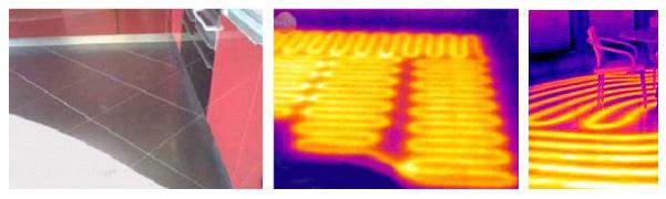 Определение мест прохождения оборудования теплого пола