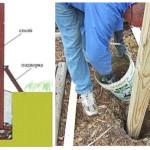Рекомендации по установке деревянных стоек забора в грунт