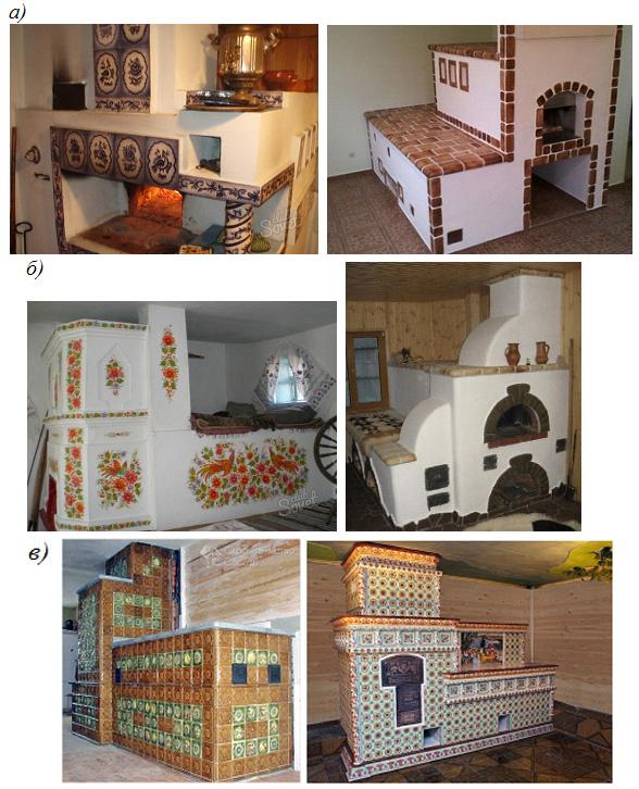 Примеры русской печи с лежанкой