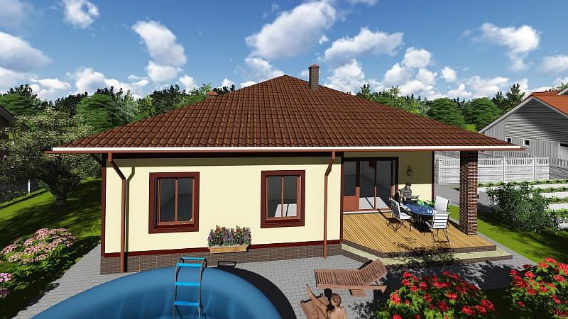 """Проект одноэтажного бюджетного дома """"Удянский"""""""