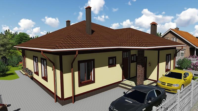 "Визуализация проекта жилого дома ""Удянский"""