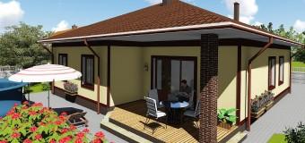Проект бюджетного одноэтажного дома «Удянский»