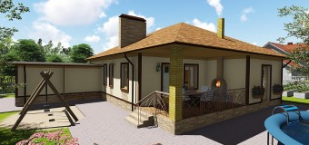 Проект одноэтажного жилого дома «Восточный-1»