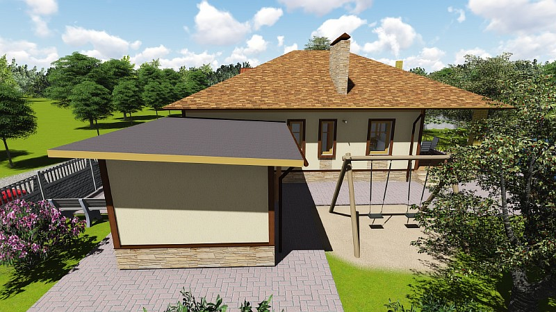"""Загородный дом """"Восточный-1"""" - визуализация проекта"""