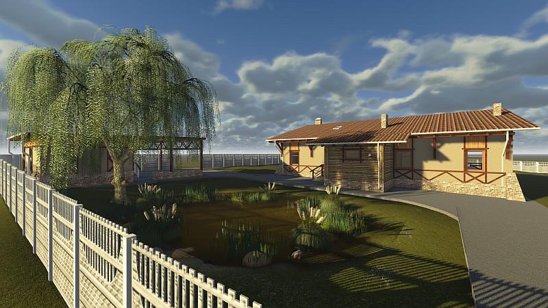 Дом-усадьба - проект жилого одноэтажного дома