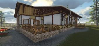 Проект жилого дома-усадьбы «Шале в соснах»
