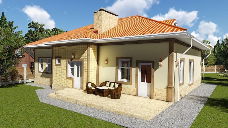 """Типовой проект загородного дома """"Роща"""" - визуализация"""