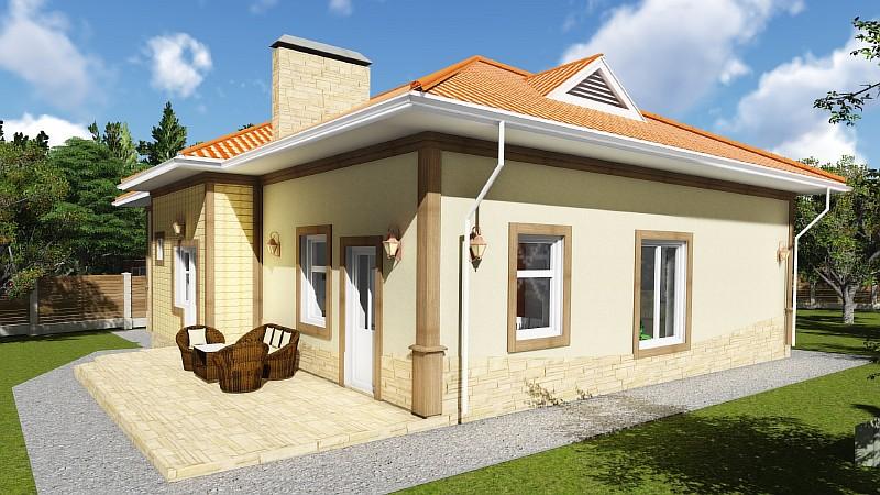 "План бюджетного жилого дома ""Роща"" - визуализация"