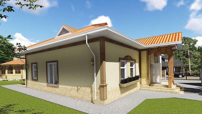 """Визуализация типового проекта жилого дома """"Роща"""""""