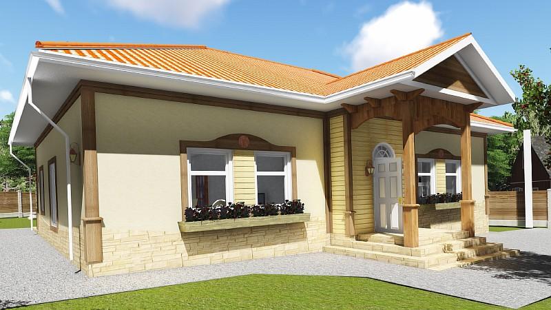 "Проект одноэтажного жилого дома ""Роща"""
