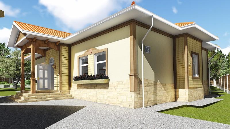 "Визуализация типового проекта загородного дома ""Роща"""